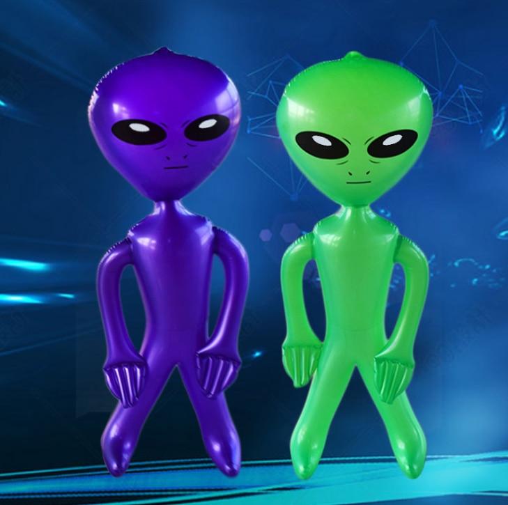 90cm / 170cm PVC Alien nadmuchiwane zielone lalki dla dorosłych zabawki dla dzieci Halloween Horror świąteczne rekwizyty urodzinowe