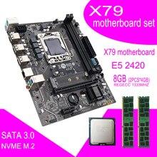 Qiyida X79マザーボードセットxeonプロセッサlga 1356 E5 2420 cpu 2個 × 4ギガバイト = 8ギガバイト1333mhz pc3 10600R DDR3 ecc regメモリram