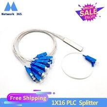 Envío gratis 10 uds/lote 1X16 PLC/SC/UPC SM de PVC de 0,9mm 1m FTTH fibra óptica divisor precio al por mayor