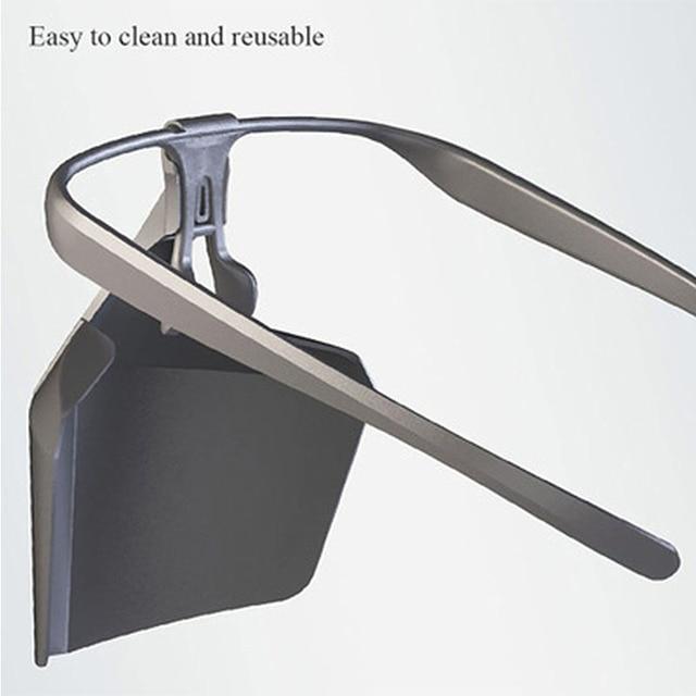 Food Grade PE Mouth Safe Masks Shield Anti Spitting Saliva Screen Protective Face Shield Respirator Half Face Mouth Mask Safer 1