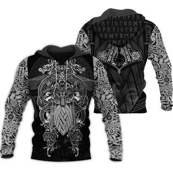 Tessffel Unisex Vikings Tattoo Viking Warriors NewFashion Harajuku MenWomen HipHop 3DPrint zipper/Sweatshirts/Hoodies/Jacket s-5 1