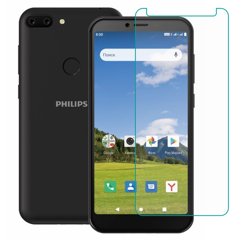Tempered Glass For Philips S395 S257 S561 S397 S260 GLASS 9H  2.5D Protective Film Case Clear LCD Screen Protector Phone Cover