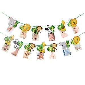 Image 4 - Décoration danniversaire sur le thème du Safari, assiettes, gobelets, chapeaux, pailles avec des animaux et nains pour les enfants