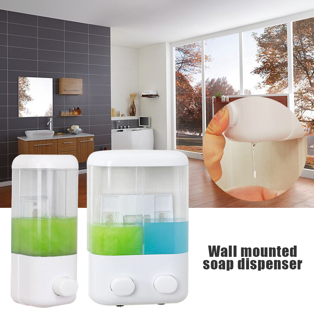 500ml Soap Dispenser Sucker Wall-mount Sucker Hand Soap Liquid Shower Gel Container Dispenser For Bathroom Kitchen Accessories