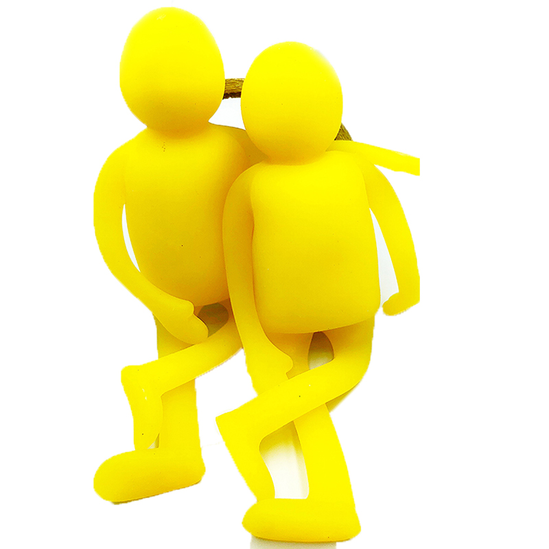 19CM Squishy Jumbo Yellow Man Stress Relief Toys For Children Stress Relief Release Enter Antistress Adult Toy For Kids