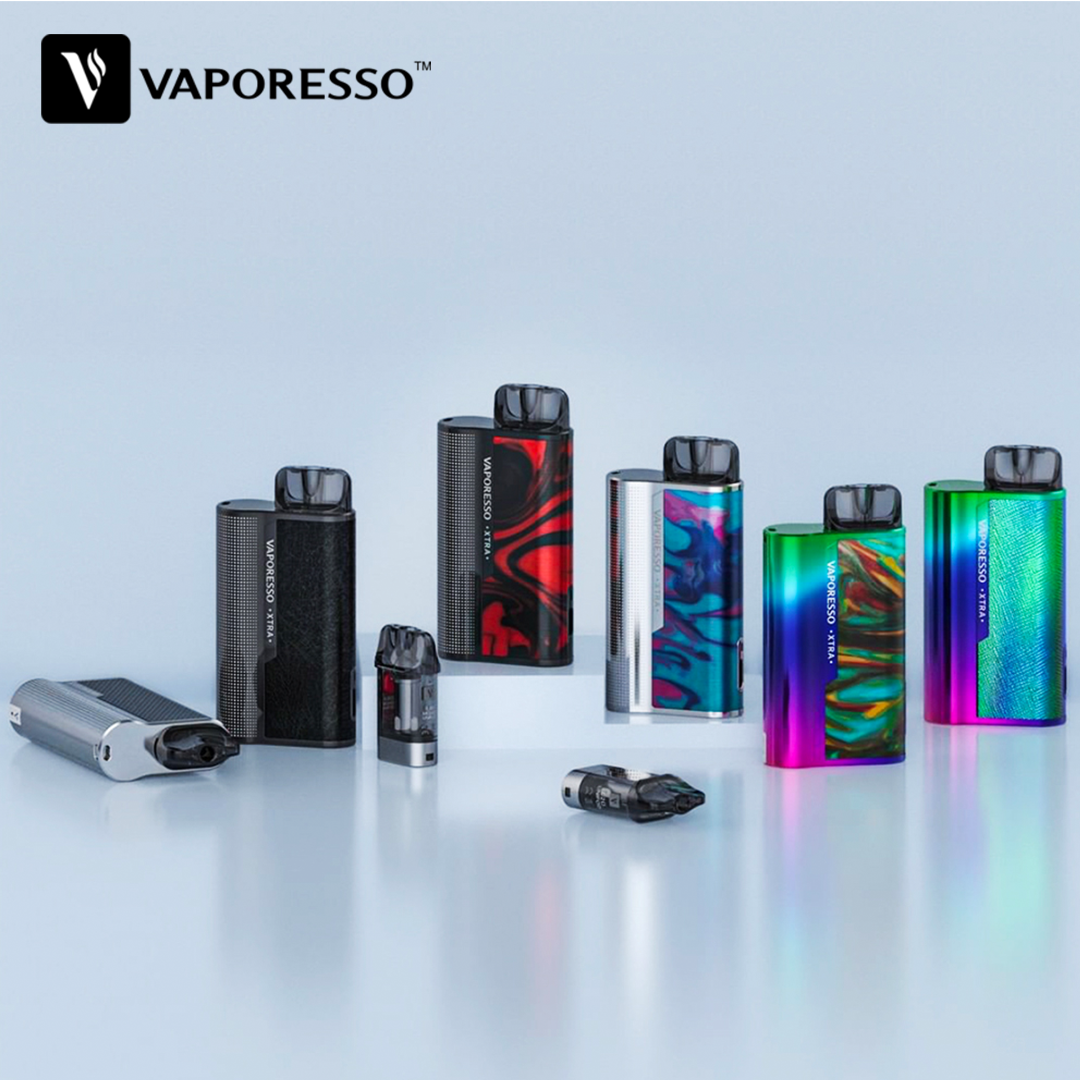 Original Vaporesso XTRA Kit With 900mAh Battery & 2ml Cartridge & 0.8ohm/1.2ohm Coil Pod System Vs Vaporesso Osmall / Targe PM80