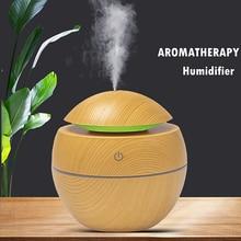 Mini Luchtbevochtiger Ultrasone Usb Aroma Diffuser Houtnerf Led Nachtlampje Elektrische Essentiële Olie Diffuser Aromatherapie Thuis