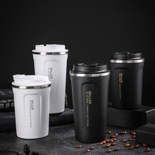 450 ML Stainless Steel Thermo Cup Travel Coffee Mug with Lid Car Water Bottle Vacuum Flasks Thermo Cup for Christmas Gift mug lefard yellow flower on black 450 ml