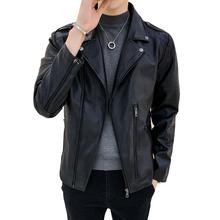 Winter Leather Jacket new trend Motorcyclist Korean Style faux leather lether-jacket winterjacmade of PU for men A521-819