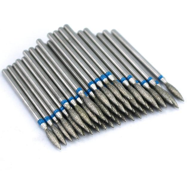 50pcs Diamond Nail Drill Bit for Electric Manicure Machine Accessories Nail Art Tools Polish Remover Mills Cutter Nail Files 4