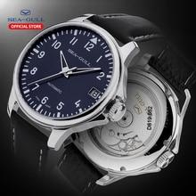 Seagull montre mécanique automatique avec bracelet en cuir, 44mm, haute qualité, pour les entreprises, 819.552