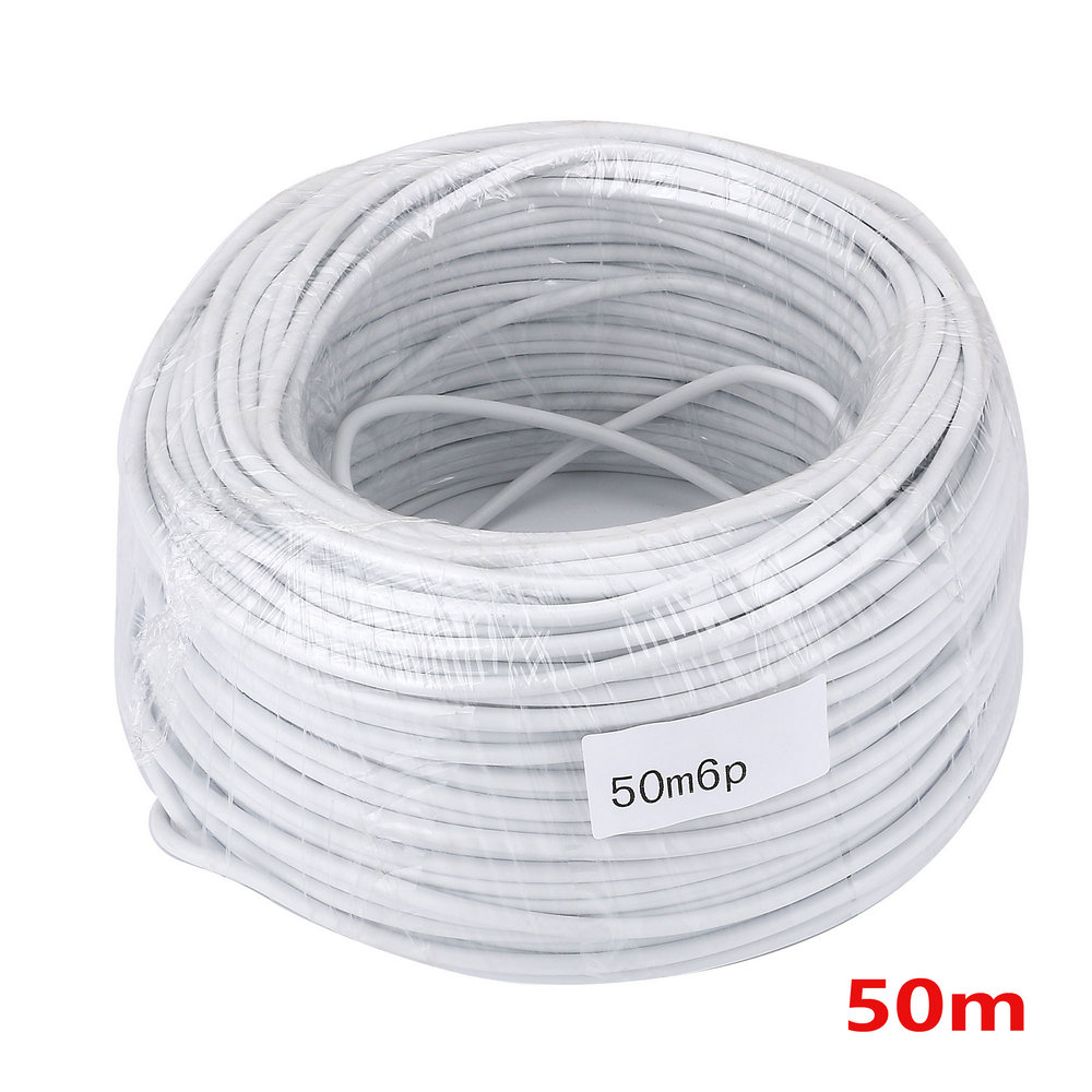 50M 2.54*6P 4 Wire Cable For Video Intercom Color Video Door Phone Doorbell Wired Intercom