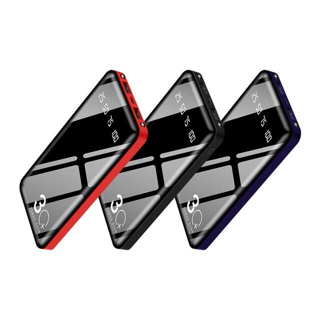 30000mAh Power Bank Portable Charging Powerbank 30000 mAh Poverbank External Battery Pack Charger For Xiaomi Mi 9 iPhone 11 Max 2