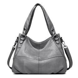 сумка женская через плечо натуральная кожа Pommax брендовая чёрная сумка шоппер для женщин B19-003 кожанная женская сумка