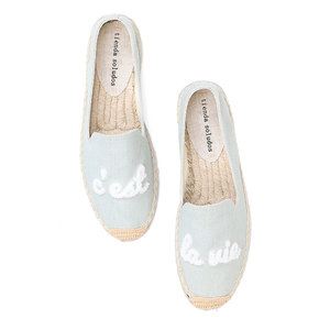 Image 1 - Tienda Soludos Espadrilles Fashion Womens Flats Shoes Flat 2019 Zapatillas Mujer Casual Sapatos With Cool Thick soled Fisherman