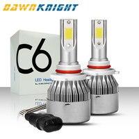 DAWNKNIGHT 2PCS H7 Led Headlight C6 Turbo Fan 12V 6000K H4 H1 H3 H8/H9/H11 H27 880 9005/HB3 9006/HB4 9012 Car Led Lamp Wholesale