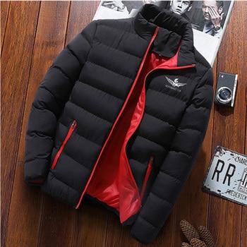 2020 mens casual jacket personality zipper printing high neck warm winter sports jacke