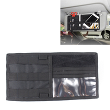 Tactical MOLLE Organizer Pouch Vehicle Visor Panel EDC Tool CD Storage Bag Truck Car Sun Auto Gear Holder