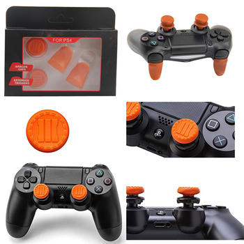 100 set L2 R2 Trigger Extenders Buttons joystick analog Caps Kit for PS4 Controller Gamepad Accessory Silicone Buttons Extender
