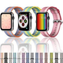 Strap for Apple Watch Band apple watch 4 3 42mm 44mm correa iwatch band 38mm 40mm pulseira Woven Nylon Sport Bracelet Accessorie цена и фото