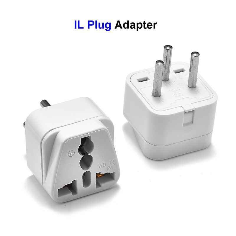 Universele Il Plug Adapter Eu Europese Us Uk Naar Israël 3 Pin Egypte Travel Adapter Power Charger Electronica Socket Outlet