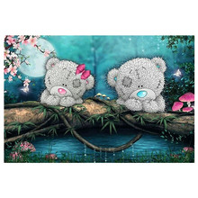New Handicrafts Two cubs 5D Diy Diamond Painting Cross Stitch Embroidery Mosaic European Home Decor