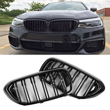 1 pair new design f90 m5 diamonds grille grill meteor style abs gloss black fits for bmw m5 look f90 front kidney grills 2019 in Replacement Front Bumper Grill For BMW G30/G38 5 Series M5 G31 520i 530i 540i 2017-2019 2-Slat Gloss Black Front Kidney Grille