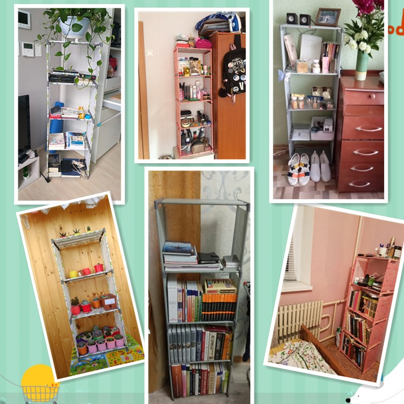 Image 5 - Bookshelf Storage Shelve for Books Simple Asemmbly Book Rack Bookcase for Home Furniture Boekenkast Home Furniture BookcaseBookcases   -