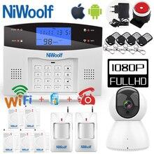 Wifi PSTN GSM Alarm sistemi 433 kablosuz kablolu dedektörler Alarm akıllı ev röle çıkışı APP İngilizce/rusça/İspanyolca/Fransa/İtalyan