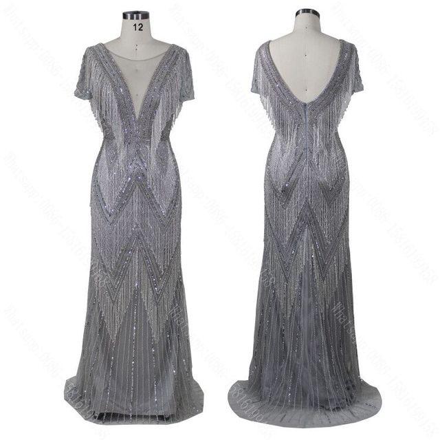2020 Con Scollo A V design nuovo arriva il vestito da promenade del vestito da sera che borda il vestito