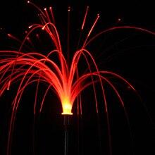 Семь Цвет светодиодный волокно трава вставку для праздничный фонарь на открытом воздухе пейзаж двора освещения Водонепроницаемый штепсельную вилку из-за освещения