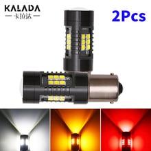 2X Car Led Light Bulb Canbus T20 7443 W21/5W T25 3157 1156 BA15S 1157 P21/5W BAY15D Auto Reversing Lamp For Car 12V White Yellow
