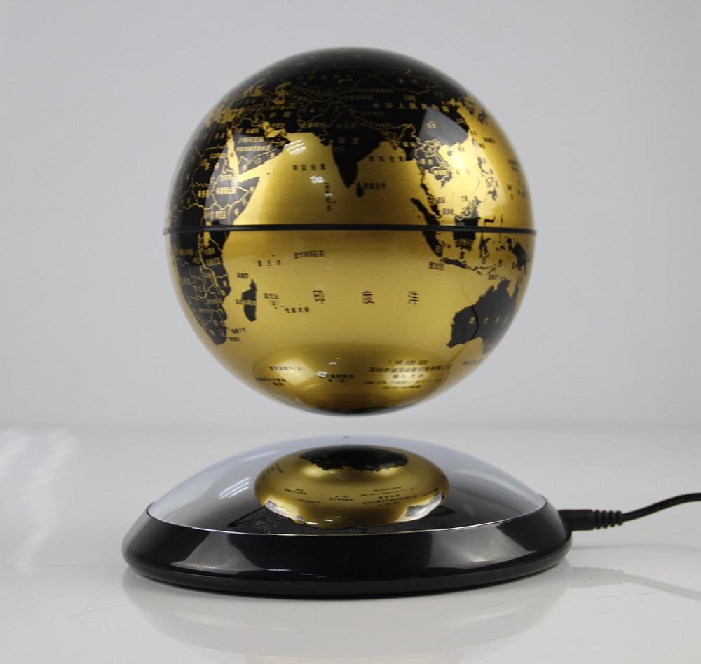 New Strange Gift Study Room Bedroom Library Magnetic Levitation 3 Inch Earth Globe Circle Base  Floating