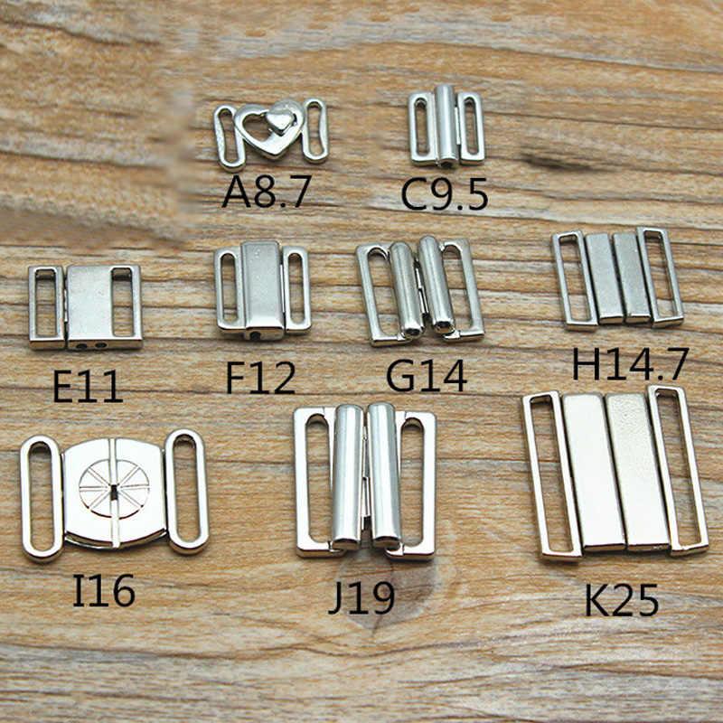 DIY 5 pc/sets aleación sujetador Clip traje de baño Clickers bikini cierre frontal hebillas sujetador hebilla