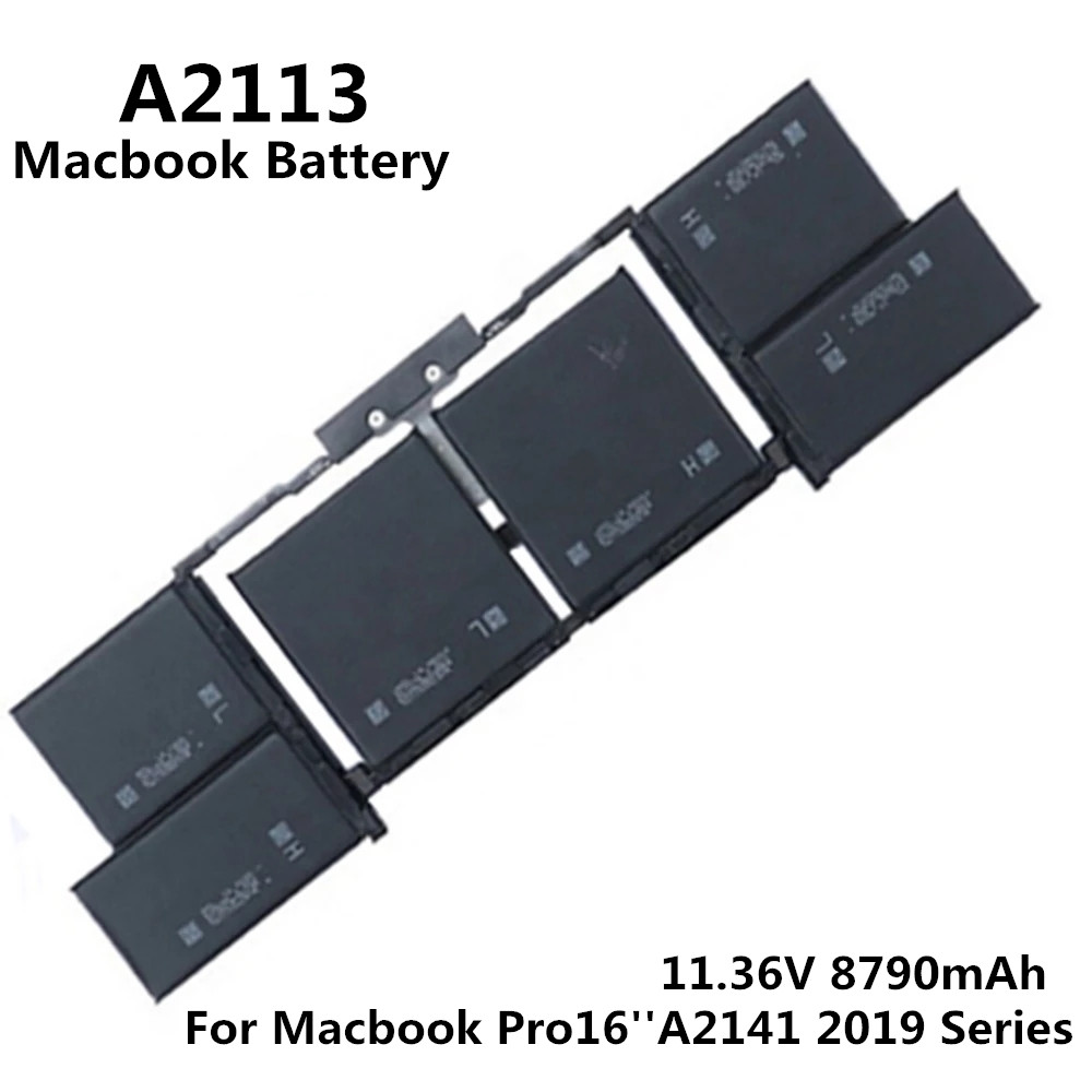 100% Original 11.36V 8790mAh Notebook Laptop A2113 Battery FOR Apple Macbook Pro 16'' A2141 2019 Series MVVJ2 MVVL2 MVVM2