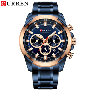 Image 4 - CURREN Fashion Casual Stainless Steel Watches Mens Quartz Wristwatch Chronograph Sports Watch Luminous pointers Clock Male
