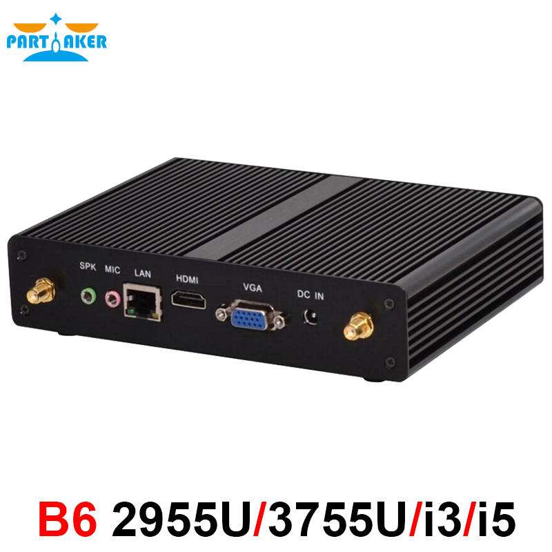 Intel core i3 4020Y i5 4200Y Fanless mini pc Win 7 10 Gigabit LAN VGA HDMI ოფისი nettop pc 2955U თხელი კლიენტი HTPC 3215U