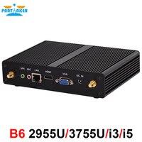 Intel core i3 4020Y i5 4200Y sin ventilador mini pc Win 7 10 Gigabit LAN VGA HDMI Oficina nettop pc 2955U cliente Delgado HTPC 3215U