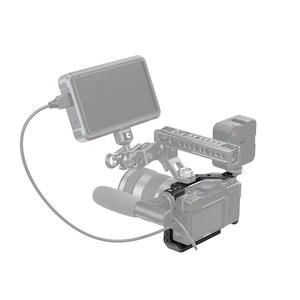 """Image 5 - Petite Cage de tir Vlog A6600 pour Sony A6600 Cage de caméra avec support de chaussure froide/ARRI 3/8 """" 16 filetage accessoire 2493"""