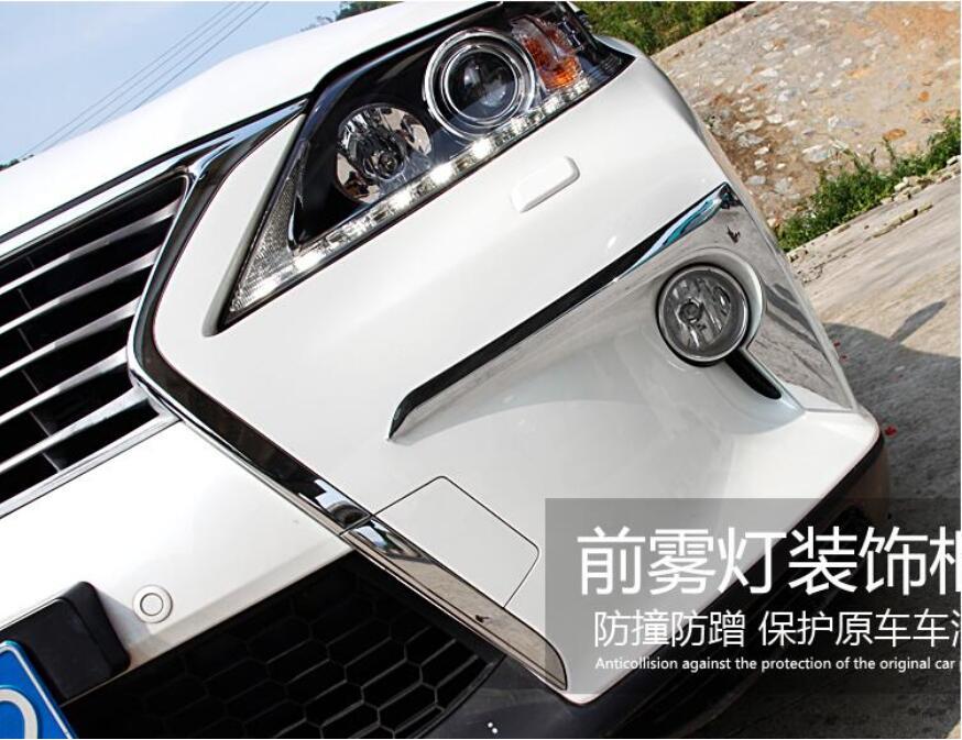 ABS Chrome ด้านหน้า + ด้านหลังไฟตัดหมอกสำหรับ LEXUS RX270 RX350 RX450 RX450H 2012 2013 2014 2015 จัดส่งฟรี