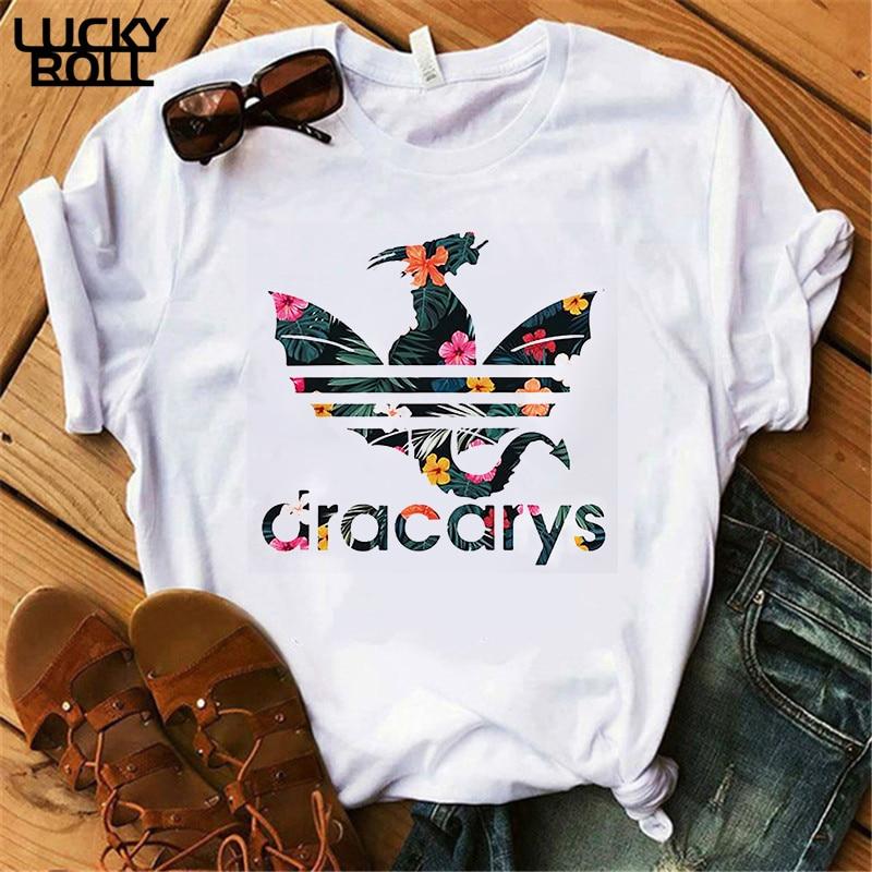 Dracarys Women   T     shirt   Game of Thrones White   T  -  shirt   Summer Harajuku   T     Shirt   Mother of Dragon Tee   Shirt   Camisetas Mujer