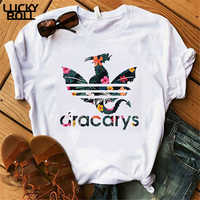 Dracarys Women T shirt Game of Thrones White T-shirt Summer Harajuku T Shirt Mother of Dragon Tee Shirt Camisetas Mujer