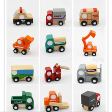 12pcs/set Mini wooden car/airplane/ military vehicle Soft Montessori toys for children with gift box birthday present