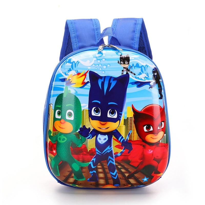 PJ Masks Original Children's School Backpack Waterproof Boy 30cm Large Capacity Eggshell Shape PJ Mask Student Bag Gift 2S12