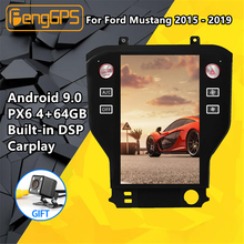 Tesla screen Android PX6 For Ford Mustang 2015 - 2019 Car Multimedia player Stereo Radio DSP CARPLAY GPS Navigation Head unit