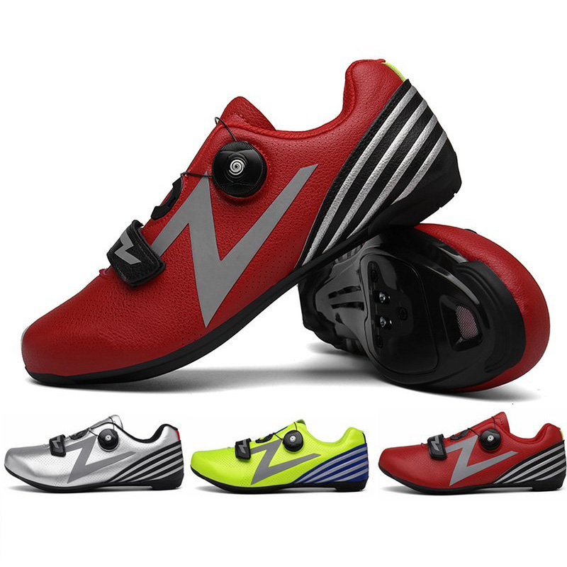HOT MTB Road Bicycle Men And Women Ventilation Shoes Suitable For Black Red Green Mountain Road Universal Cycling Shoes