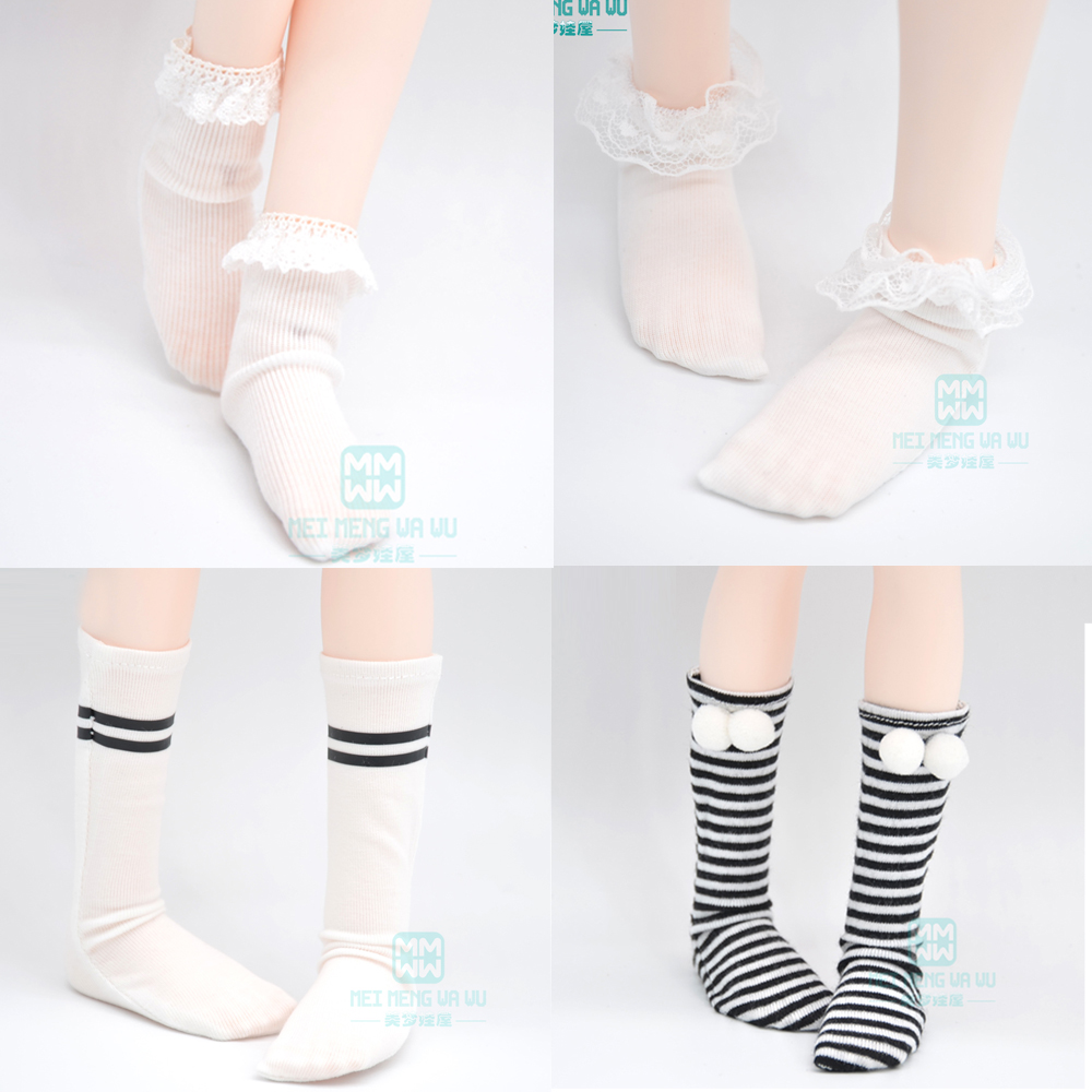 Pair of Doll Black Stockings Knee Socks For 1//4 BJD for DOD for YOSD Dolls