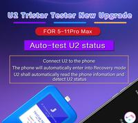 JC U2 IC Tristar Tester for iPhone 5 11Pro Max Auto test U2 Status Serial Number Detector Reader U2 Charge Fault Fast Detector