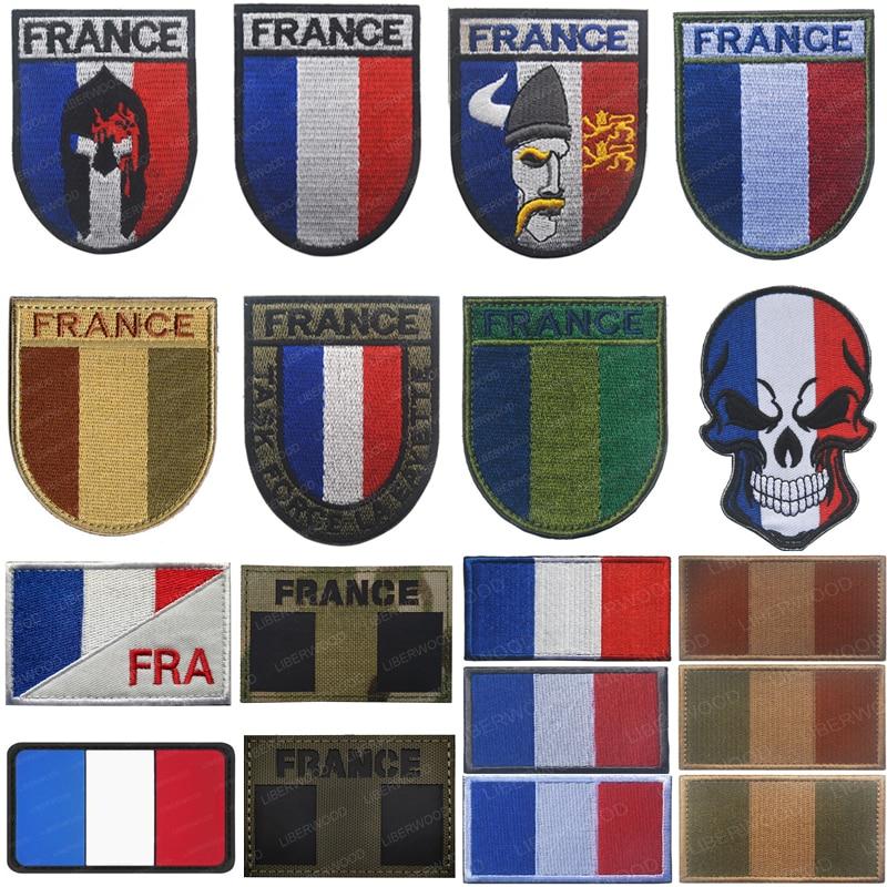 Вышивка французским флагом, французские нашивки, военная эмблема на липучке, аппликация, рюкзак