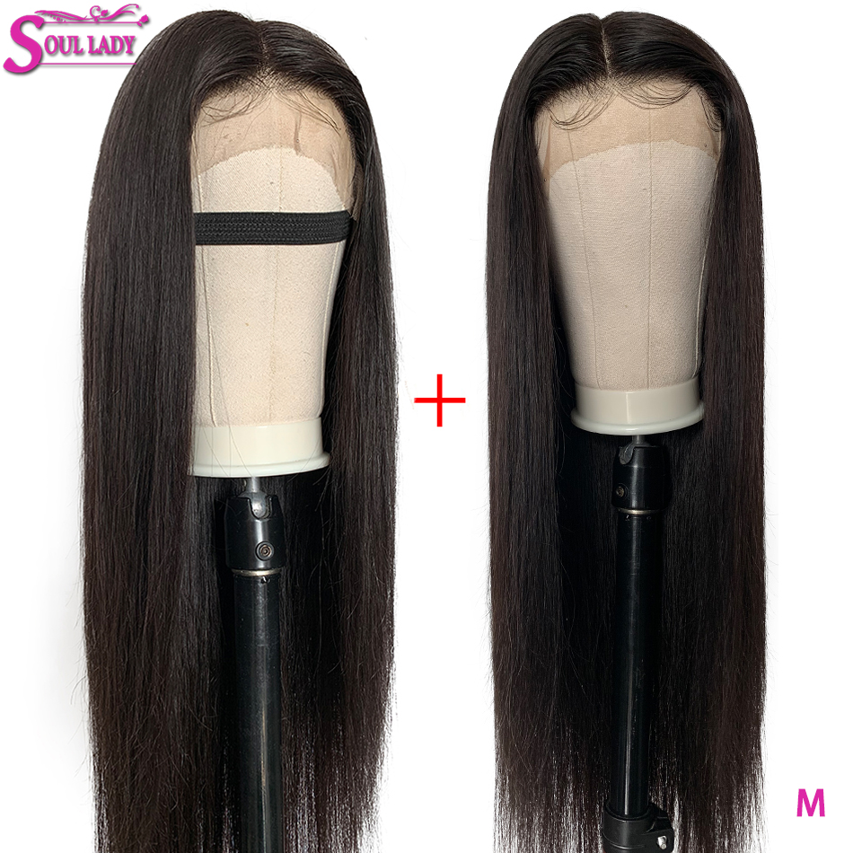 13X6 Lace Front Human Hair Wigs Bleached Knots Pre Plucked Deep Part 150% Middle Ratio Brazilian Straight Remy Hair Front Wigs
